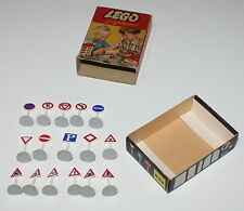 LEGO VINTAGE SET 232 Street Sogns for the Town Plan 1956 16 Pieces Box A System