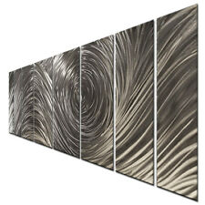 Metal Wall Art The Hills Silver Modern Abstract Contemporary Home Decor Ash Carl