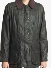 Barbour 'Beadnell' Waxed Cotton Jacket Sage USA  ���� Size 8 NWT