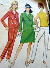 LOVELY VTG 1960s JACKET SKIRT PANTS TOP Sewing Pattern 12/32
