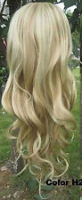 WJIA1005  new style curly vogue long blonde mix wigs for women hair wig