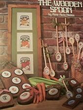 The Wooden Spoon Fruit Jars Apple Pear Orange USED Cross Stitch Booklet/Leaflet