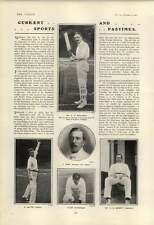 1901 Cricketers A C Mclaren J Gunn Lilley Wicket-keeper Blythe Garnett