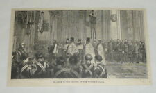 1880 magazine engraving ~ CHAPEL OF WINTER PALACE, Russia