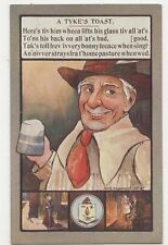 Yorkshire Arms Toasts & Sayings Jack Broadrick A Tykes Toast Postcard 267a