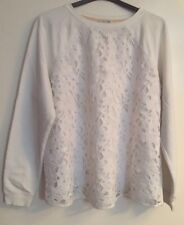 Stunning White Boden Lace Front Jumper Size 22