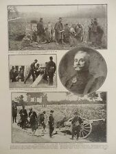1914 FRENCH ARTILLERY 75 GUN TEAMS INVENTOR COLONEL DUPONT WWI WW1