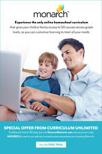 Try a 30 day FREE TRIAL Monarch Homeschool Online Curriculum by Alpha Omega Publ