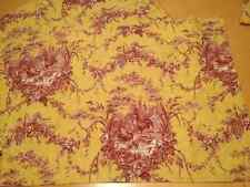 (4pc) Waverly LA PETITE FERME ROOSTER Red Yellow Toile Curtain Valance 25x19 HTF