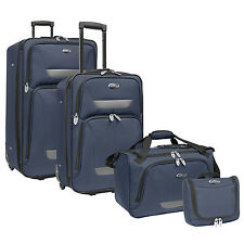 US Traveler Westport 4-Piece Navy Light Expandable Rolling Luggage Suitcase Set