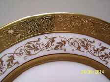 Jammet Seignolles Limoges * MAREUIL * Gold Encrusted Bread Plate (s)