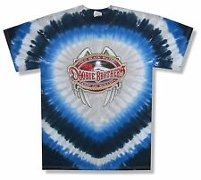"THE DOOBIE BROTHERS ""KEEP ON ROLLIN' TOUR 2010"" BLUE TIE DYE T-SHIRT NEW ADULT M"