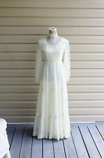 70s Gunne Sax Style Wedding Dress Bohemian Empire Festivals Celebrations Prairie