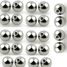 20 Pc 14g 5mm 316L Surgical Steel Solid Ball External Threaded Replacement balls