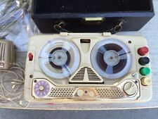 Geloso Stenotape Model G256 Reel-to-Reel Tape Recorder T34 Mic ITALY ~ PARTS