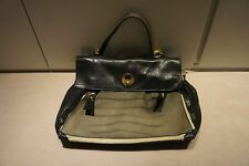 Auth YVES SAINT LAURENT YSL Muse 2 Handbag Canvas Calfskin Bag Grey