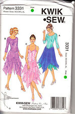 Leotard Ballet Sewing Pattern Miss XS  XL Skirt Dance KWIK SEW New OOP 3331