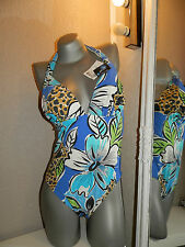 EMPREINTE SWIMSUIT UK 38С 85С L XL 14-16 BNWT swimsuit blue underwired fantasie