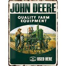 Vintage Style Retro pesada placa de metal repujado en/Signo de estaño-John Deere Farm equipar