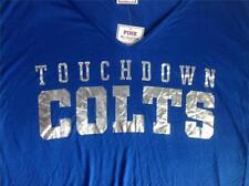 Victoria's Secret PINK Indianapolis Colts Drapey Crop Foil T-Shirt S Touchdown