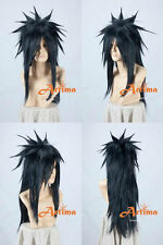0138 Uchiha Madara Long Black Cosplay, Animation Modeling Wig