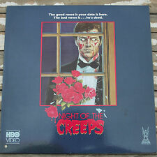 Night Of the Creeps Laserdisc LD Horror Fred Dekker OOP TVL 9959 HBO Video