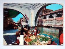 CHIOGGIA Canal Vena Venezia mercato frutta verdura vecchia cartolina