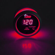"2"" 52mm Black Car Truck Digital Red LED Oil Press Pressure LED Gauge Kit"