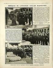 Funeral Aviator Reginald Warneford Royal Naval Air Service RNAS Buc War 1915 WWI