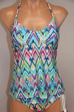 NWT Kenneth Cole Reaction Swimsuit Tankini 2pc Set Sz XL AQU