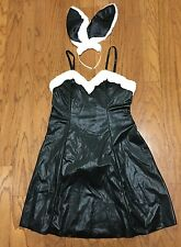 Playboy Bunny Costume Dress Outfit Size 1X-2X Plus Size Ears Tail Sexy EUC