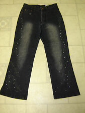 Tem Che Jeans Distressed Tianqi High Fashion Jeans Size Medium 27 X 23 EUC