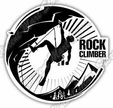 Rock Climber Climbing Mountain Camp Car Bumper Window Vinyl Sticker Decal 4.6""