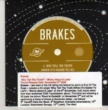 (CN356) Brakes, Why Tell The Truth - 2009 DJ CD
