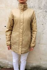 Puma Vintage 90s Long Coat  Ladies Nylon Jacket beige Warm Uk 12 M  Good