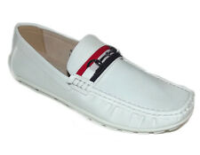 NEW WHITE Fashion faux leather Classic LOAFER SLIP ON MOCCASIN MENS Shoe Sz
