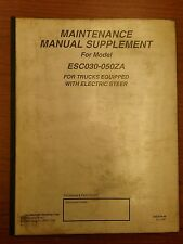 Yale Fork Lift Truck Maintenance Manual Supplement ESC030-050ZA