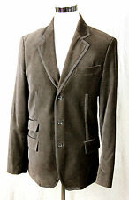 MARC ECKO BEIGE BROWN VELOUR 100%COTTON BUTTONS FRONT POCKETS EVENT JACKET Sz L