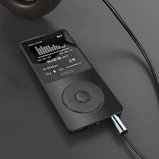 """Black Portable 1.8""""TFT Screen RUIZU X02 HiFi MP3 MP4 Music Player FM Recorder AD"""