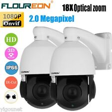 2x1080P 4.7-84.6mm 18XZOOM ONVIF CCTV Security Dome IR-CUT PTZ Outdoor IP Camera