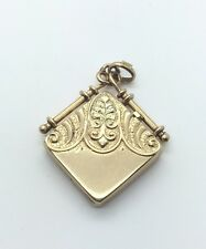 1800s Antique Victorian 14k Solid Yellow Gold Detailed Locket Pendant Charm Fob