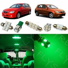 6x Green LED lights interior package kit for 2005-2013 KIA Spectra5 KP1G