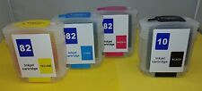 Refillable Full ink cartridge 82 & 10 for HP Designjet 100 500ps 800 120 50 815