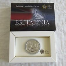 2009 £2 SILVER BRITANNIA IN ROYAL MINT PRESENTATION BOX WITH COA