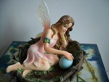 "RARE FAERIE GLEN WOODLAND  FAIRY ""MATERKISS"" PRETTY FAIRY  LYING IN A BIRDS NEST"
