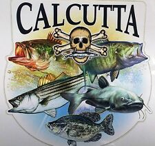 Calcutta Freshwater Montage Decal for Trucks/Cars/Boats Color Fish/Skull Design