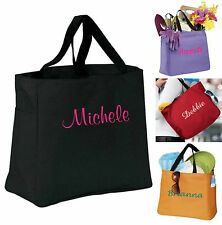 Bridesmaid Gift Bags Personalized Tote Bridal Shower Wedding Party Embroidered