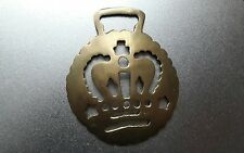 Rare Vintage antique horse brass old brass badge