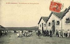 MILITARIA CARTE POSTALE NETTOYAGE HARNACHEMENTS 39° ARTILLERIE TIMBRE FM 1913