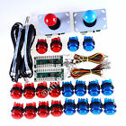 2 x MAME Arcade DIY Parts Kit USB Encoders + 2 Joystick + 20 LED lit Push Button